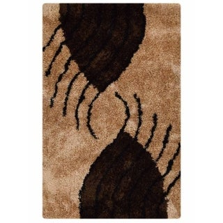 Shaggy Hand Tufted Modern Carpet Polyester Graphic Indian Area Rug