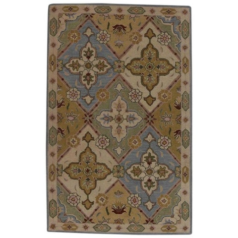 The Curated Nomad Boutwell Handmade Wool Oushak Oriental Floral Area Rug