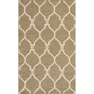 The Curated Nomad Anthony Handmade Wool Trellis Area Rug