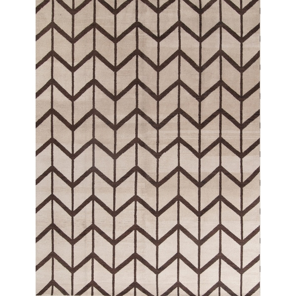 The Curated Nomad Central Handmade Wool Trellis Moroccan Indian Oriental Area Rug