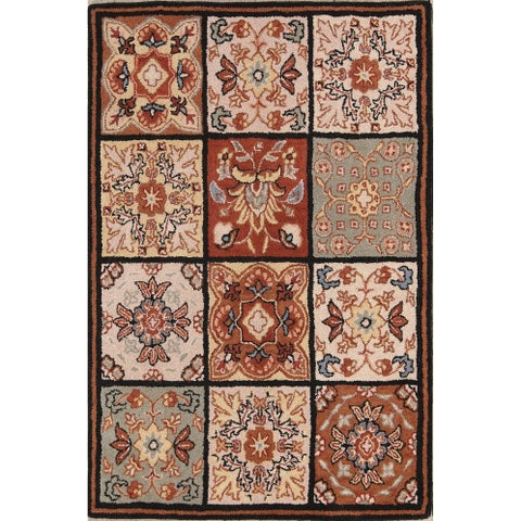 The Curated Nomad Palmetto Handmade Wool Oushak Oriental Patchwork Area Rug