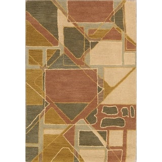 The Curated Nomad Andover Handmade Modern Oushak Oriental Artistic Abstract Area Rug