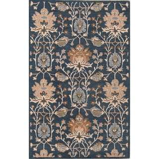 The Curated Nomad Blake Handmade Oushak Oriental Transitional Floral Area Rug