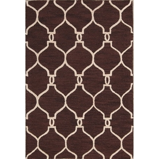 The Curated Nomad Anthony Handmade Wool Trellis Oriental Area Rug