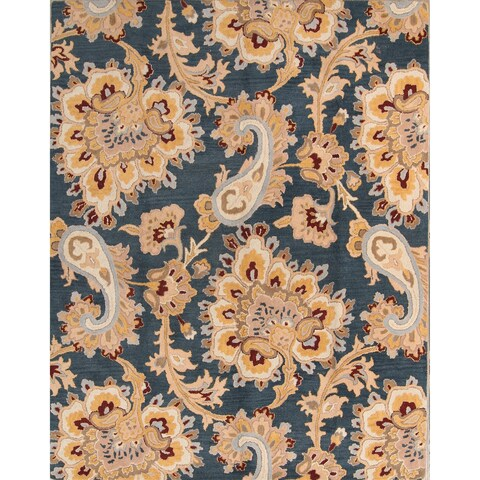 The Curated Nomad Aberdeen Handmade Wool Paisley Oushak Oriental Area Rug
