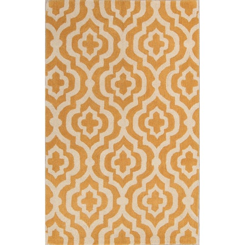 The Curated Nomad Anthony Handmade Geometric Moroccan Trellis Oriental Area Rug