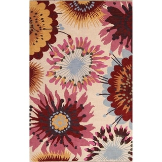 The Curated Nomad Blake Handmade Oushak Oriental Tropical Floral Area Rug