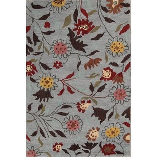 The Curated Nomad Blake Handmade Wool Transitional Floral Oriental Area Rug