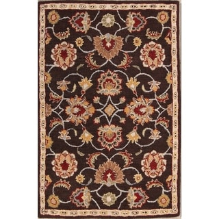 The Curated Nomad Treat Handmade Wool Floral Oushak Tabriz Oriental Area Rug
