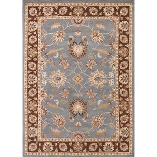 The Curated Nomad Brompton Handmade Wool Oushak Oriental Floral Border Area Rug