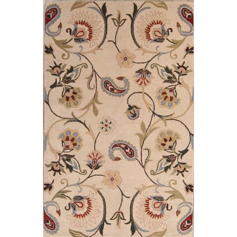 The Curated Nomad Blake Handmade Wool Oushak Oriental Transitional Area Rug