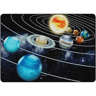 "Flagship Carpet Kids Nylon Traveling The Solar System Classroom Seating Rug - 6' x 8'4"" - 6' x 8'4"""