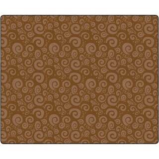 "Flagship Carpet Kids Nylon Swirl Tone On Tone Classroom Seating Rug, Chocolate - 10'9"" x 13'2"" - 10'9"" x 13'2"""