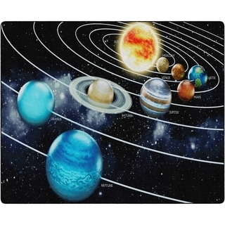 "Flagship Carpet Kids Nylon Traveling The Solar System Classroom Seating Rug - 10'6"" x 13'2"" - 10'6"" x 13'2"""