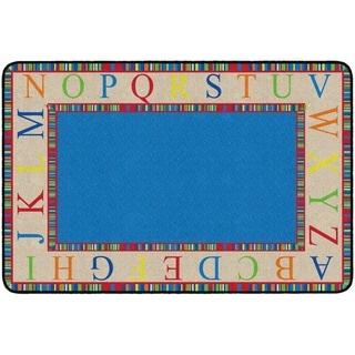 Flagship Carpet Kids Nylon The Alphabet Classroom Seating Rug - 4' x 6' - 4' x 6'