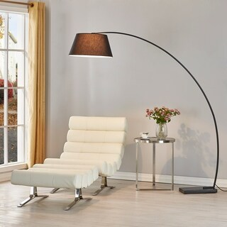 Shop Coaster Company Black Metal 1 Light Arched Floor Lamp