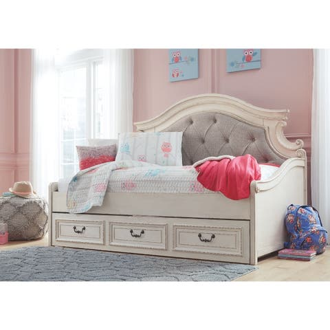 The Gray Barn Nettle Bank White Wood Finish Day Bed with Storage