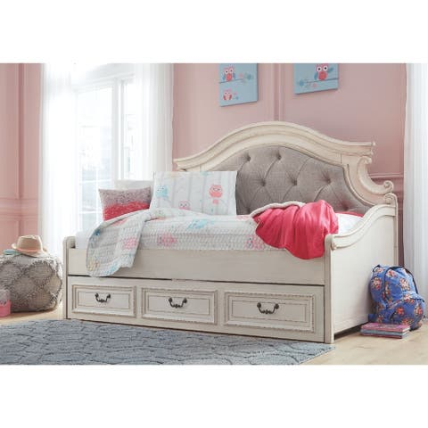 The Gray Barn Nettle Bank White Wood Finish Day Bed with Storage Size - Twin