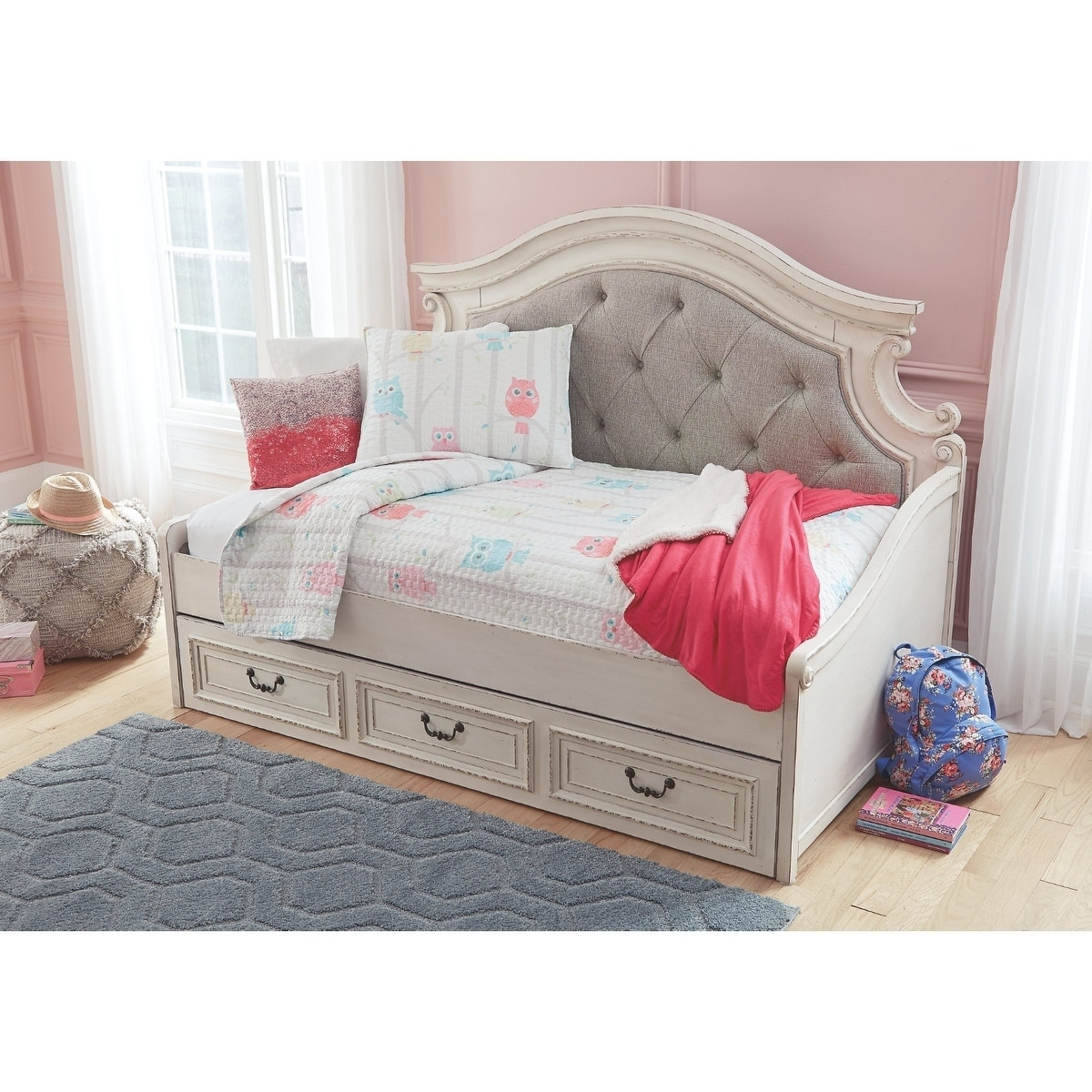- Shop The Gray Barn Nettle Bank White Wood Finish Day Bed With