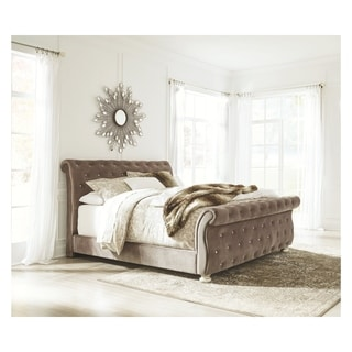 Cassimore Grey Upholstered Bed.