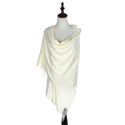 BYOS Versatile Oversized Soft Cashmere Feel Shawl Scarf Travel Wrap Blanket W/ Tassels, Many Colors