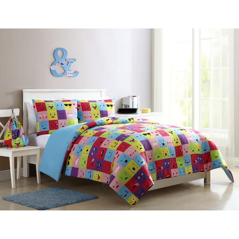 VCNY Home Facey Square Emoji Comforter Set