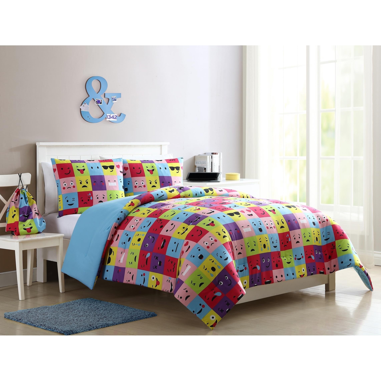 Duvet Cos.Vcny Home Facey Square Emoji Comforter Set
