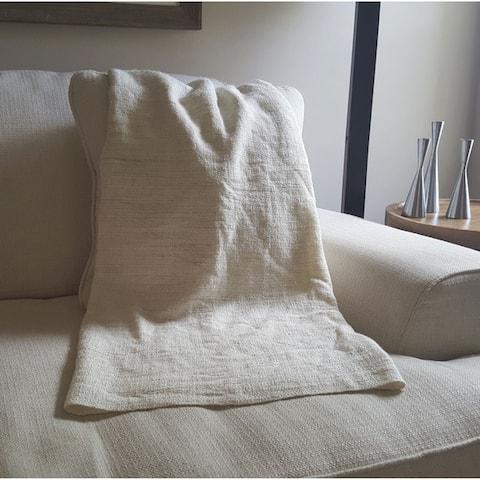 Ethan Cozy Natural Cotton Throw Blanket