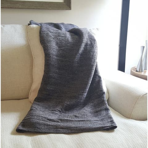 Ethan Cozy Natural Cotton Throw Blanket