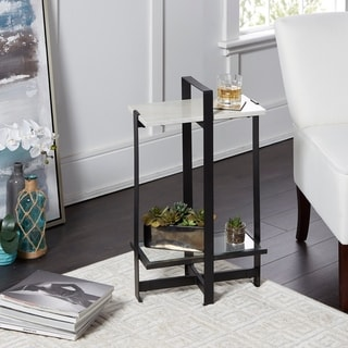 Moira Slim-Handled Accent Table with Faux Marble