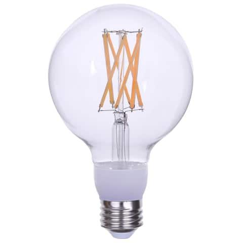 (3 Pack) G30 LED Edison Globe Light Bulb, 15W, 100-Watt Equivalent 1600 Lumens Clear E26 Base Dimmable