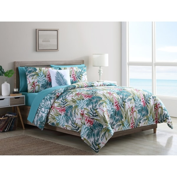 Vcny Home Cooper Tropical Bed In A Bag Comforter Set