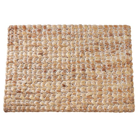 Water Hyacinth Placemats With Woven Design (Set of 4)