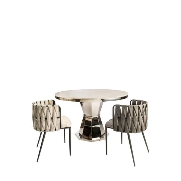J Lolin Marble Top Dining Table