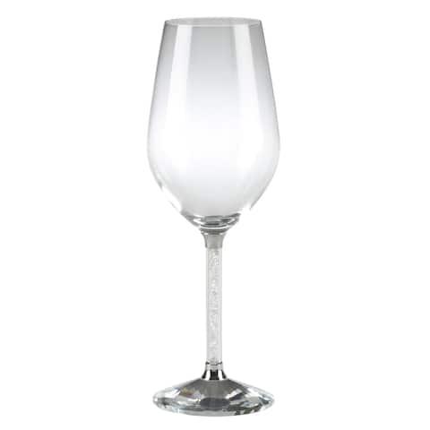 Saro Lifestyle Stemmed Crystal White Wine Glasses (Set of 2)