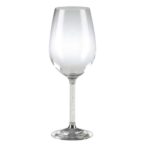 Saro Lifestyle Stemmed Crystal Red-wine Glasses (Set of 2)