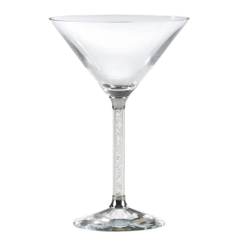 Sparkling Stem Martini Glasses