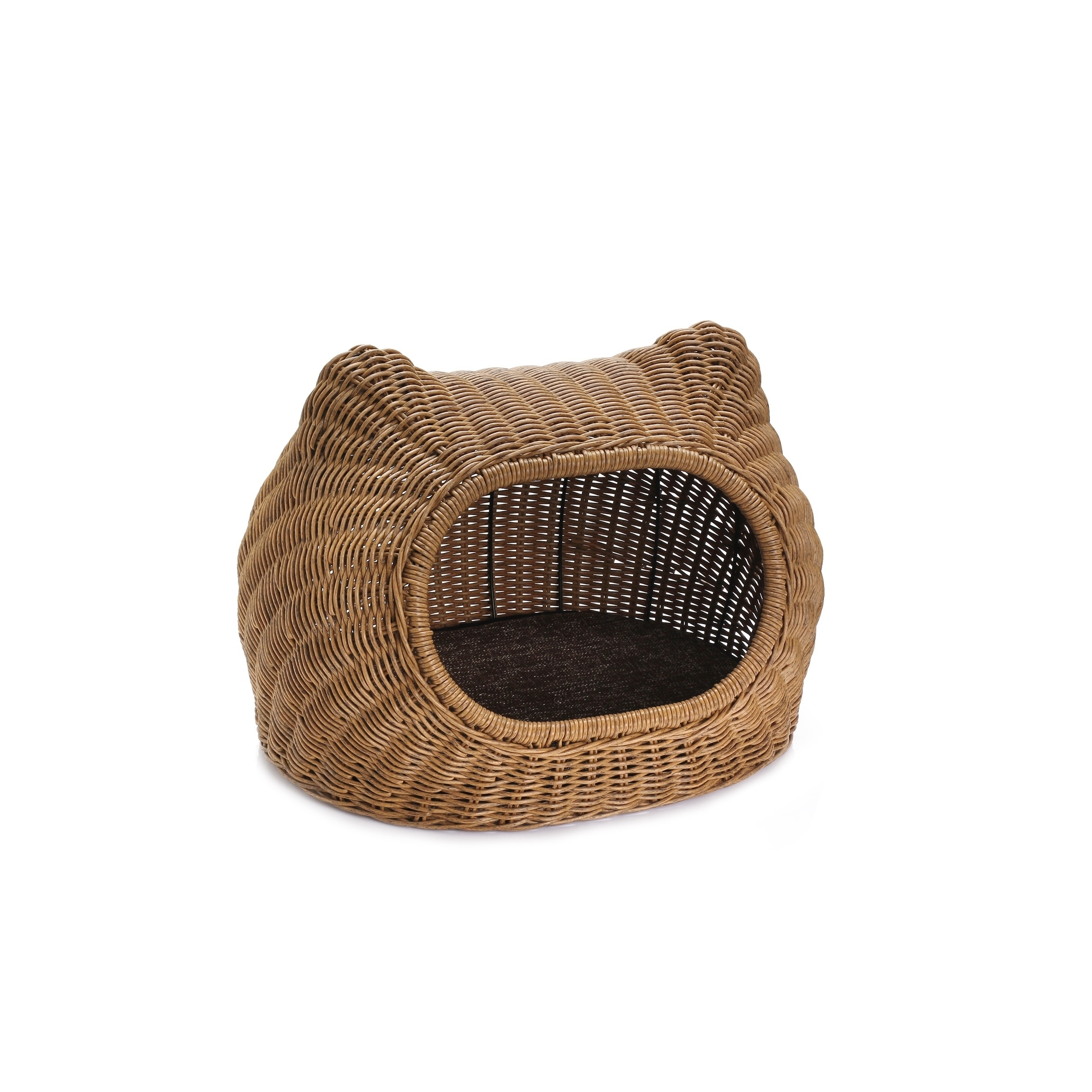 Rattan Wicker Style Indoor Outdoor Pet Bed Cave With Metal Frame For Small Dogs Or Cats Overstock 27550863