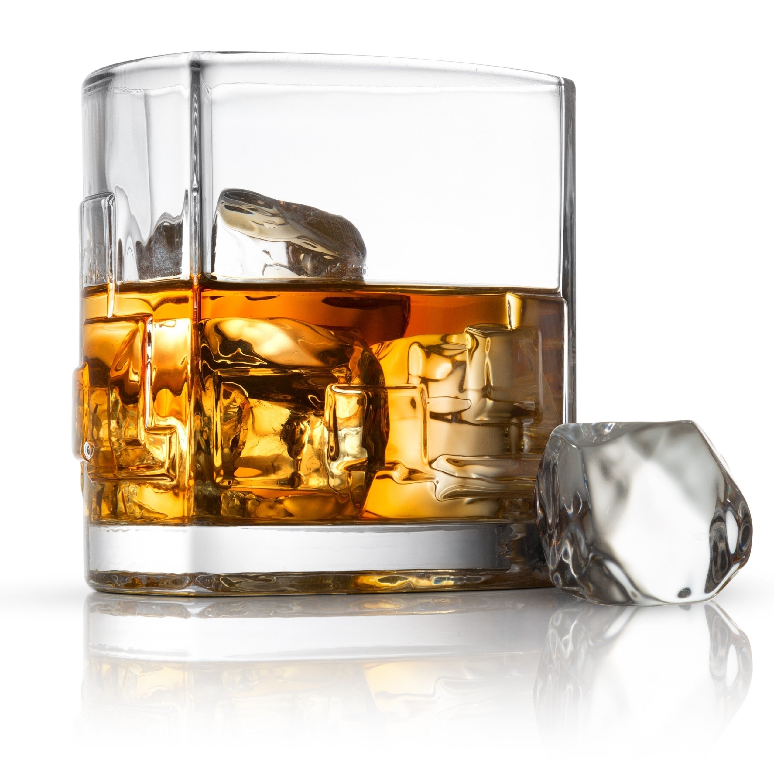 JoyJolt Black Swan Whiskey and Highball Glass collection Set of 8