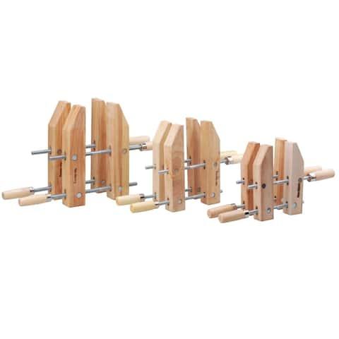 Steel Core 6pc Woodworking Handscrew Clamp Set, 8in 10in 12in