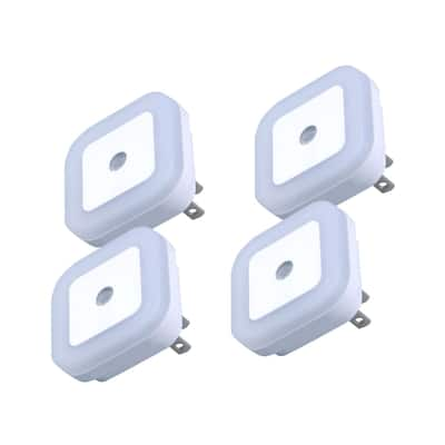 Ultra Performance 4 Pack Plug in LED Night Lights with Dusk to Dawn Sensor