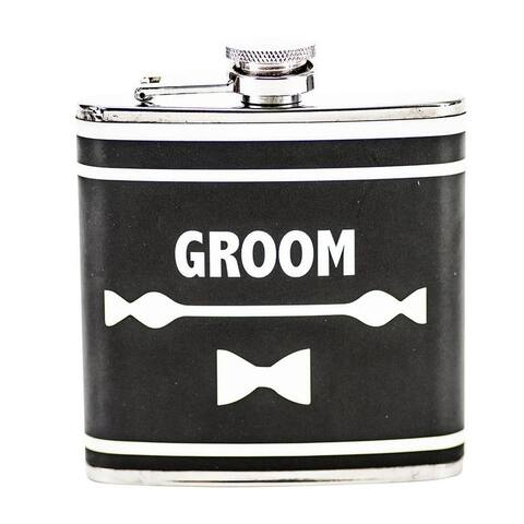 Stainless Steel Flask, 6oz - Wedding Gift