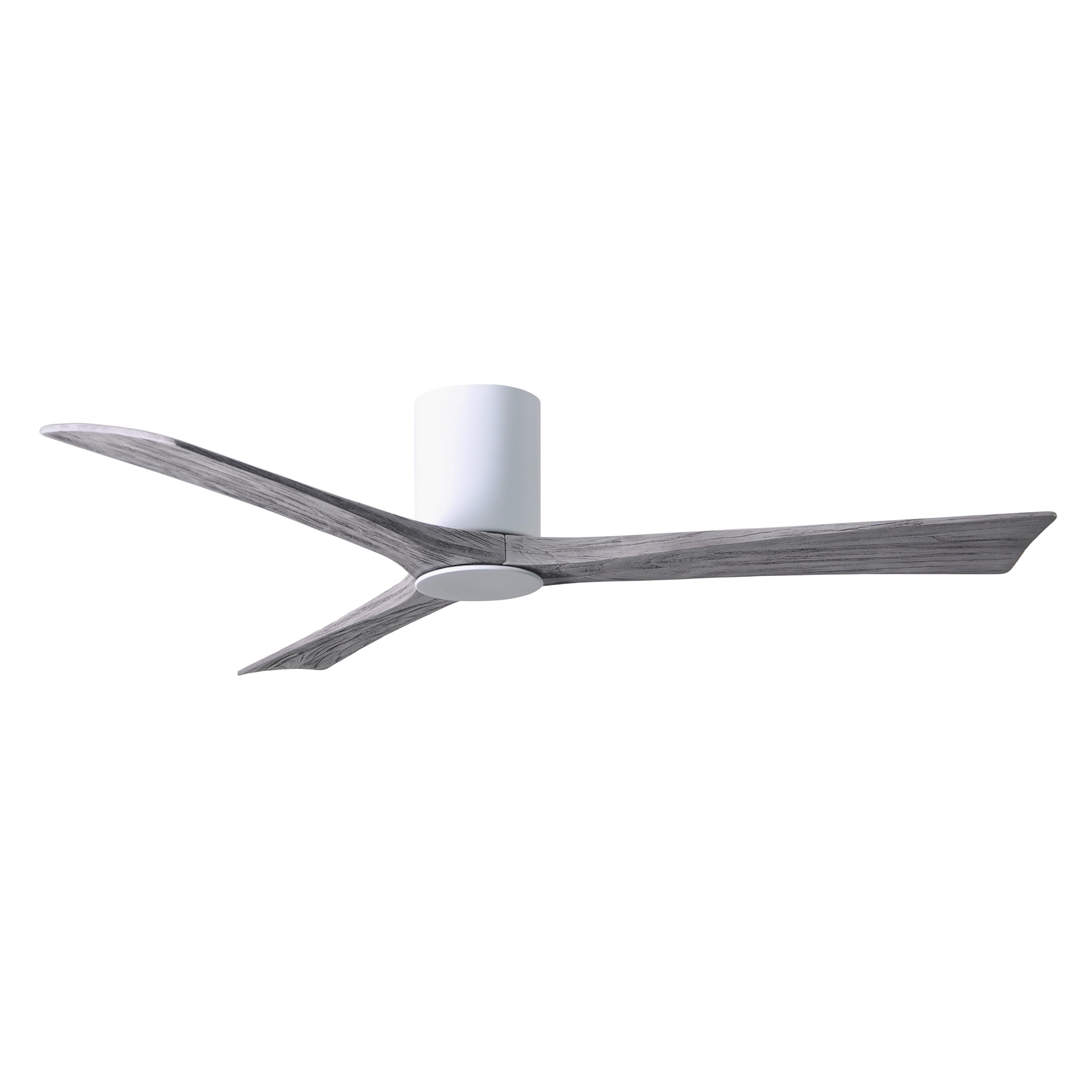 Shop Irene Hlk 3 Blade 60 Inch Gloss White Flushmount Paddle Fan With Light Kit Barn Wood Tone Blades Overstock 27551054