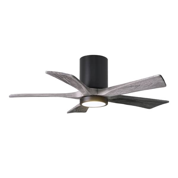 Matte Black Flushmount Paddle Fan