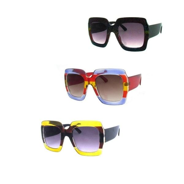 Square Oversized Unisex Sunglasses P2454. Opens flyout.
