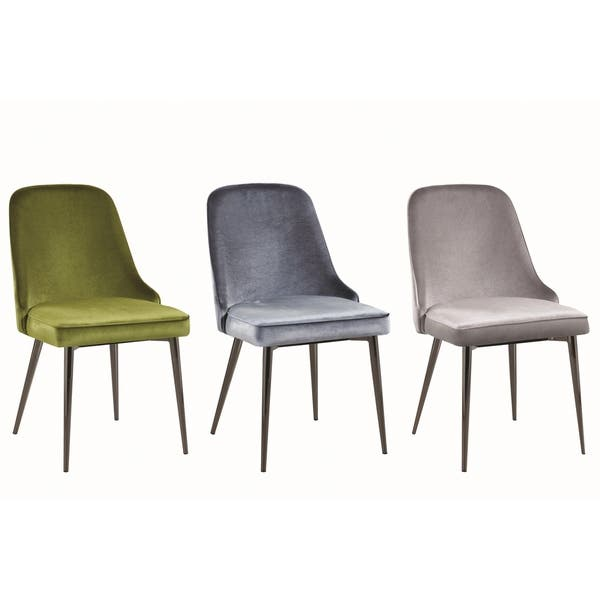 Brilliant Shop Modern Chic Design Velvet With Metal Legs Dining Chairs Squirreltailoven Fun Painted Chair Ideas Images Squirreltailovenorg