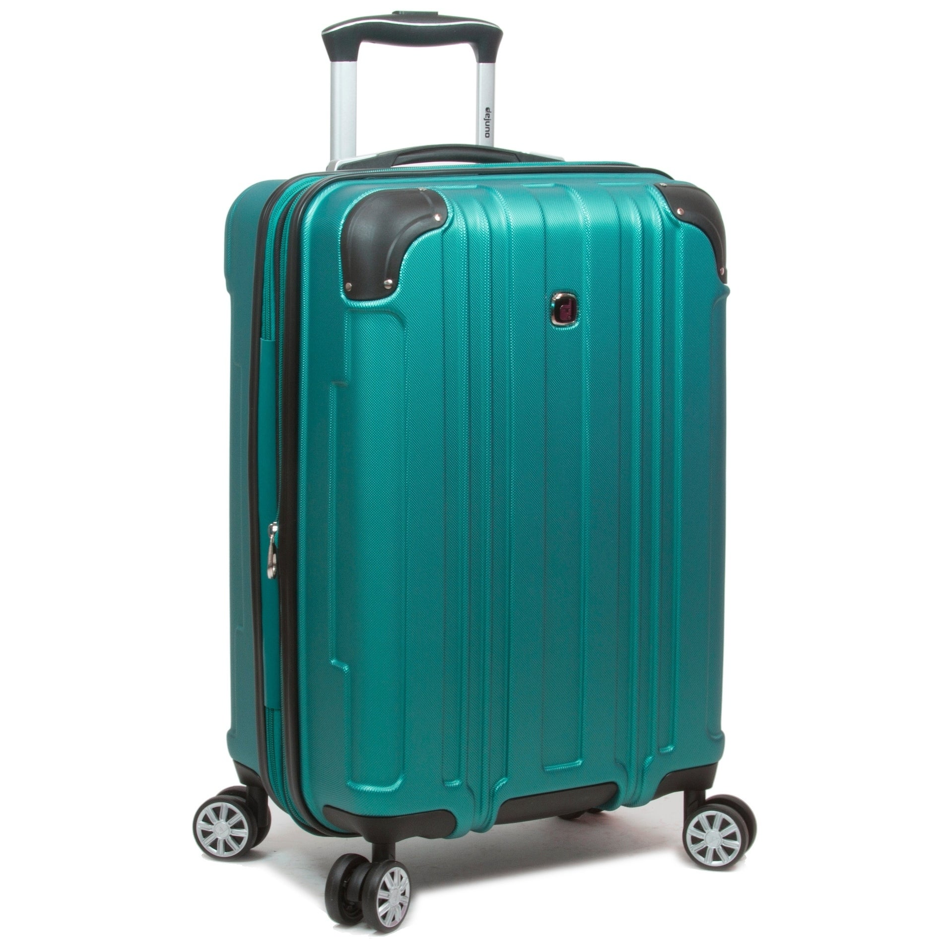 Dejuno Kingsley Abs 3-Piece Hardside Spinner Luggage Set-Blue
