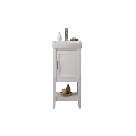 Legion Furniture White Ceramic 18-inch Sink Vanity