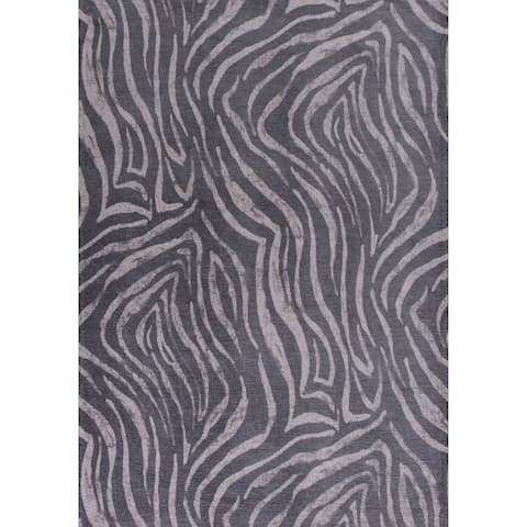 Domani Charcoal Safari Area Rug