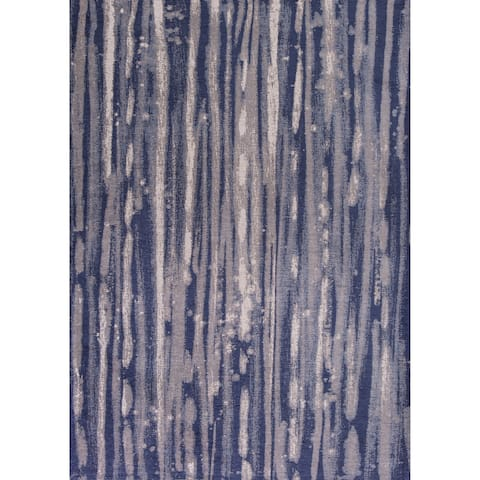 Domani Navy Transitional Area Rug
